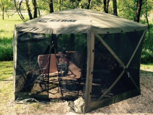 Our new Clam Screen Tent. It only takes 30 seconds to put up. Amazing!