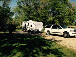 This is our campsite. Very spacious and open, bigger than most commercial and state campgrounds.