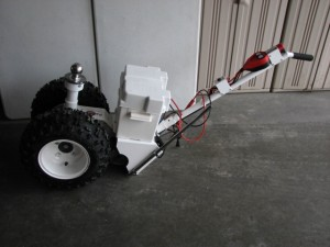 The Parkit360 runs on a battery and electric motor. I can wheel our new trailer without fear now!